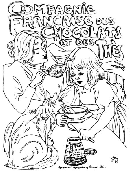 Frantic Stamper Cling-Mounted Rubber Stamp - Lg Chocolat