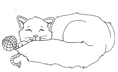 Frantic Stamper Cling-Mounted Rubber Stamp - Nap Kitty