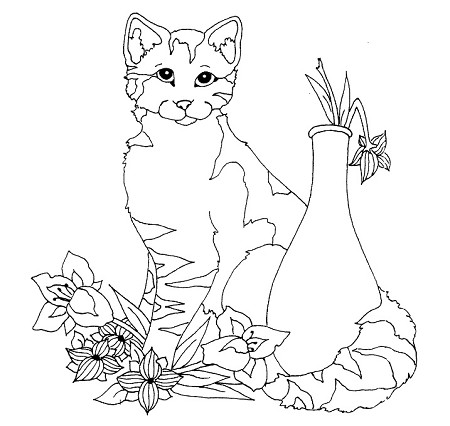 Frantic Stamper Cling-Mounted Rubber Stamp - Lg Spring Cat