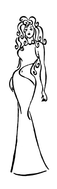 Frantic Stamper Cling-Mounted Rubber Stamp - Navel Lady