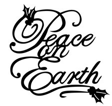 Frantic Stamper Cling-Mounted Rubber Stamp - Holly Peace on earth