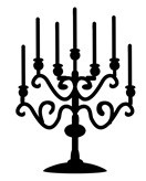 Frantic Stamper Cling-Mounted Rubber Stamp - Candelabra