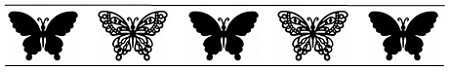 Frantic Stamper Cling-Mounted Rubber Stamp - Butterfly Border