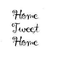 Frantic Stamper Cling-Mounted Rubber Stamp - Home Tweet Home