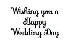 Frantic Stamper Cling-Mounted Rubber Stamp - Happy Wedding Day