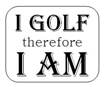 Frantic Stamper Cling-Mounted Rubber Stamp - I Golf Therefore I Am