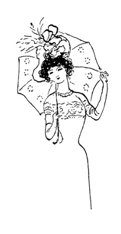Frantic Stamper Cling-Mounted Rubber Stamp - Parasol Lady