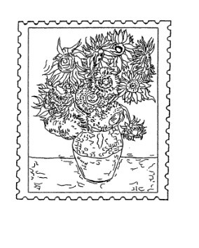 Frantic Stamper Cling-Mounted Rubber Stamp - Sunflower Post