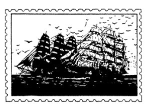 Frantic Stamper Cling-Mounted Rubber Stamp - Ship Post