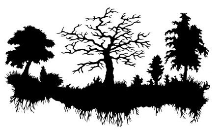 Frantic Stamper Cling Mounted Rubber Stamp Swamp Silhouette