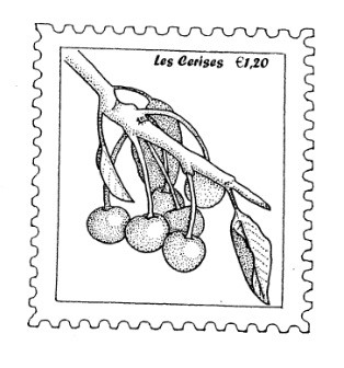 Frantic Stamper Cling-Mounted Rubber Stamp - Cherry Postoid