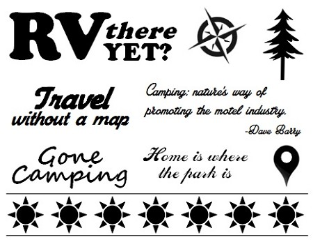 Frantic Stamper Un-Mounted Rubber Stamp - Camping