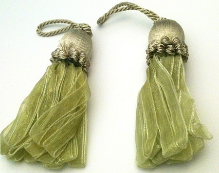 Ribbon Tassels - 2 Per Package - Sage