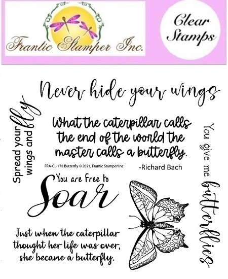 Frantic Stamper Clear Stamp Set - Butterfly