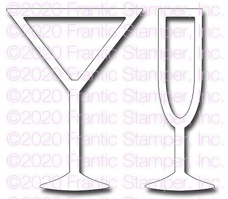 Frantic Stamper Cocktail Glasses FRA-DIE-10968