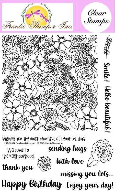Frantic Stamper Florals & Greetings Stamp Set