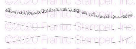 Frantic Stamper Slimline Grass & Hills Die