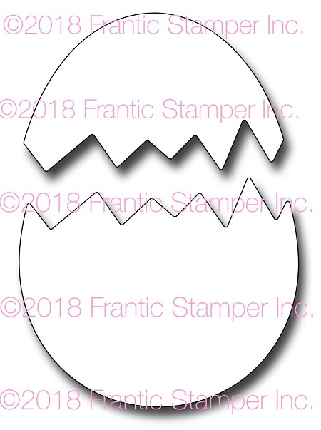 Frantic Stamper Precision Die - Cracked Egg