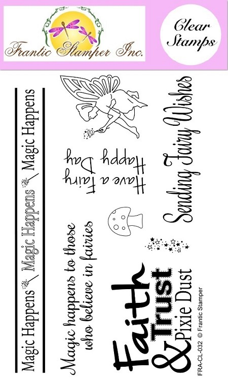 Frantic Stamper Clear Stamp Set - Fairy Magic