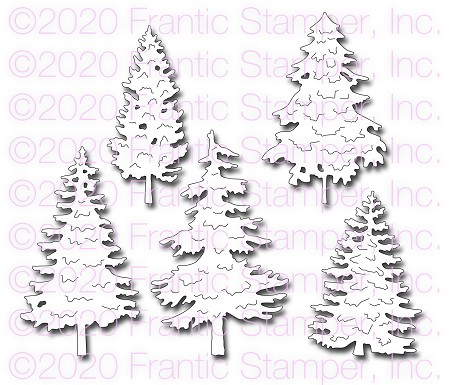 Frantic Stamper Precision Die - Majestic Evergreens