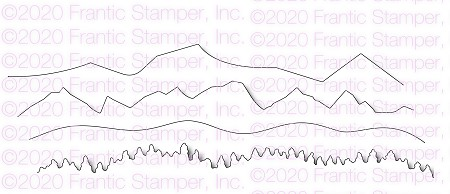 Frantic Stamper Precision Die - Scenic Mountain Edgers