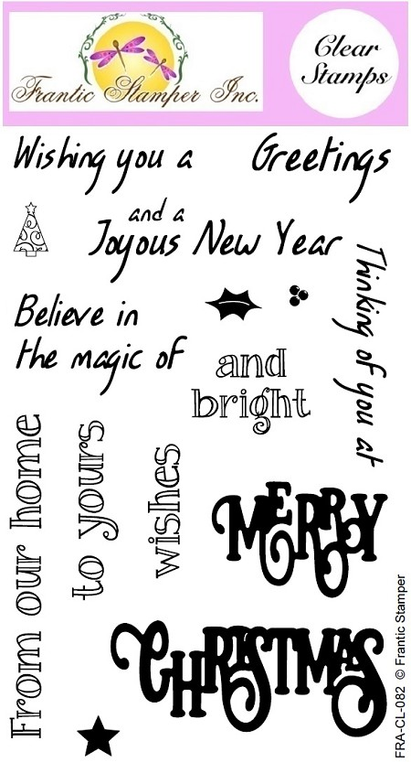 Frantic Stamper Clear Stamp Set - Merry Christmas Sentiments