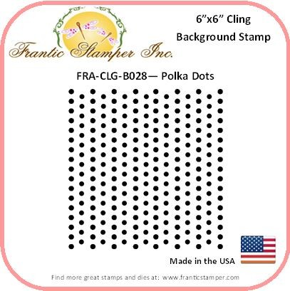 Frantic Stamper - 6x6 Background Rubber Stamp - Polka Dots