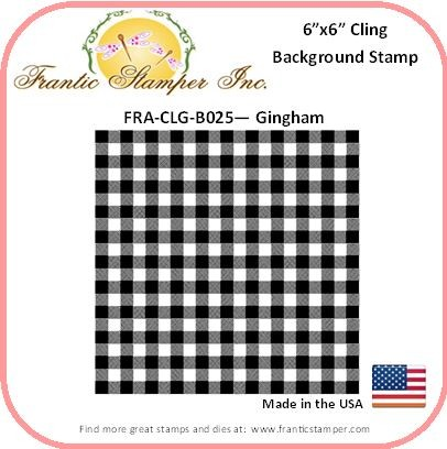 Frantic Stamper - 6x6 Background Rubber Stamp - Gingham