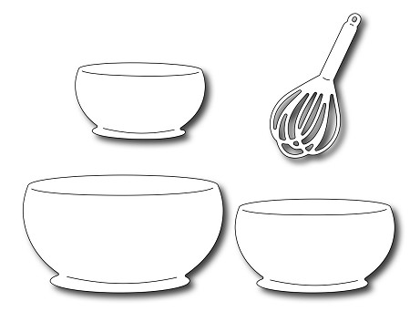 Frantic Stamper Precision Die - Mixing Bowls & Whisk