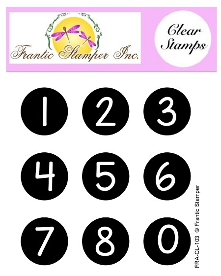 Frantic Stamper Clear Stamp Set - Bottlecap Numbers