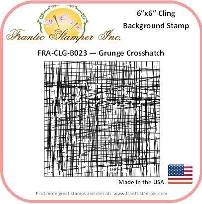 Frantic Stamper - 6x6 Background Rubber Stamp - Grunge Crosshatch