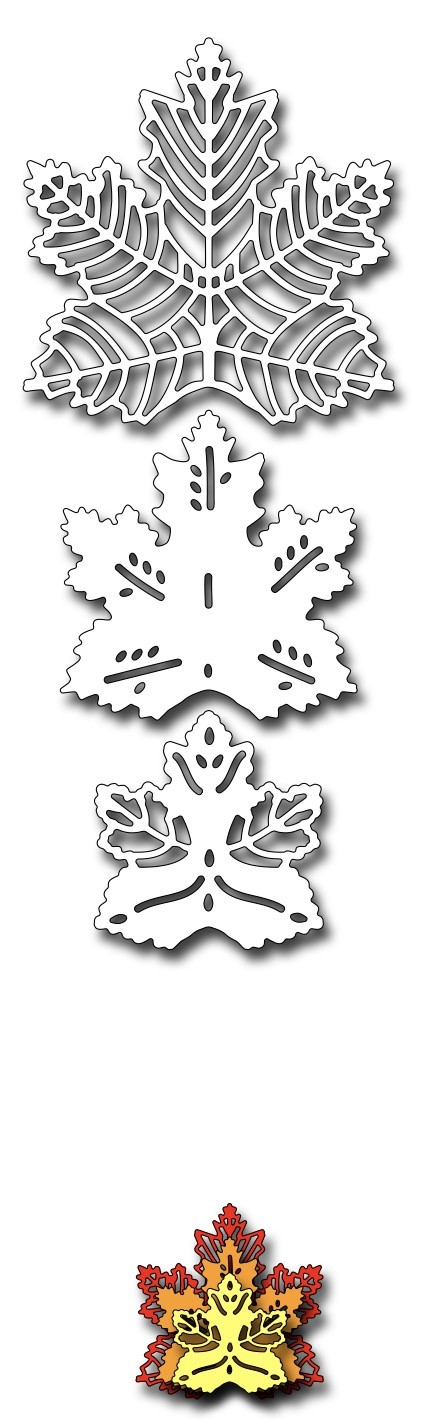 Frantic Stamper Precision Die - Stacking Maple Leaves