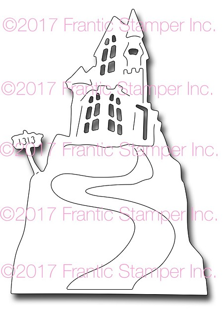 Frantic Stamper Precision Die - Haunted Hill