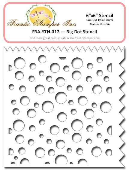 "Frantic Stamper - 6""x6"" Stencil - Big Dot"