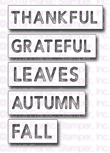 Frantic Stamper Precision Die - . Reverse-cut Autumn Words