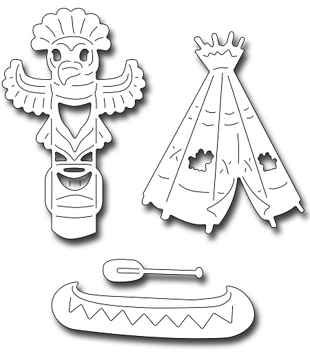 Frantic Stamper Precision Die - Native American Icons