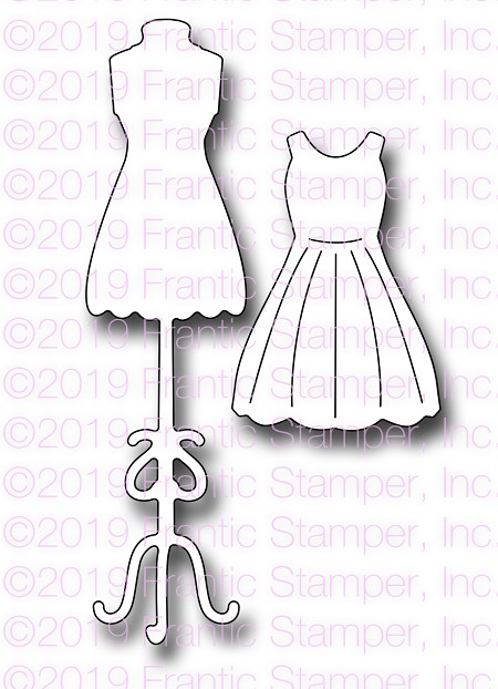 Frantic Stamper Precision Die - Small Dress Form