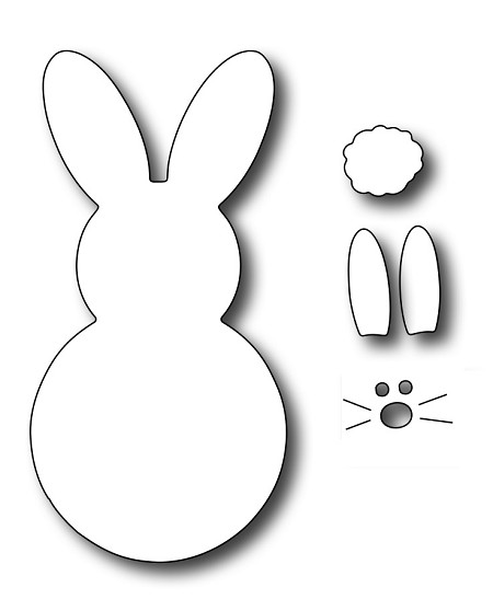 Frantic Stamper Precision Die - Large Marshmallow Bunny