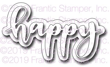 Frantic Stamper Precision Die - Giant Layered Happy