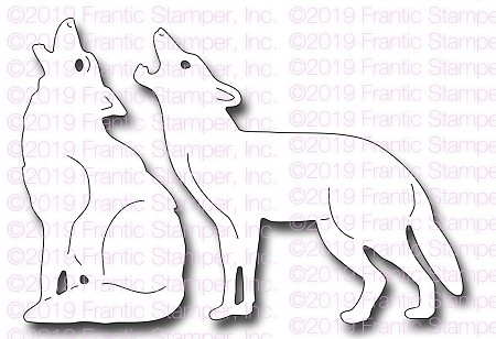 Frantic Stamper Precision Die - Howling Coyotes