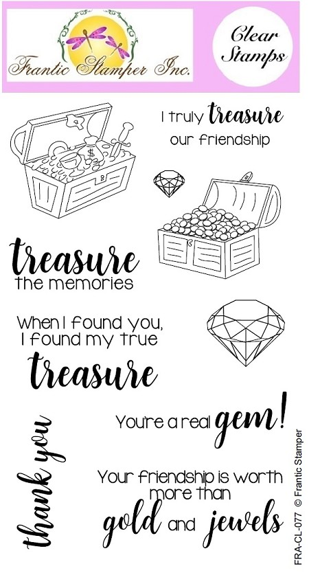 Frantic Stamper Clear Stamp Set - You're A Treasure