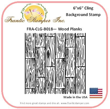 Frantic Stamper - 6x6 Background Rubber Stamp - Wood Planks