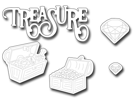 Frantic Stamper Precision Die - Treasure stamp matchers