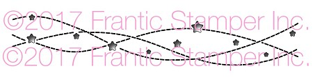 Frantic Stamper Precision Die - Streaming Stars