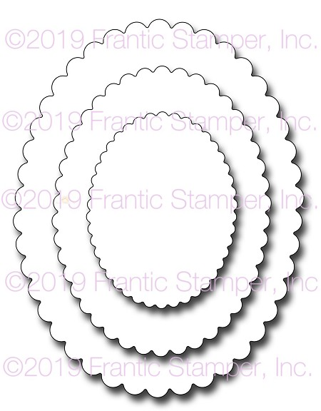 Frantic Stamper Precision Die - Scalloped Ovals