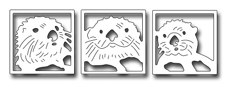 Frantic Stamper Precision Die - Peeking Sea Otters