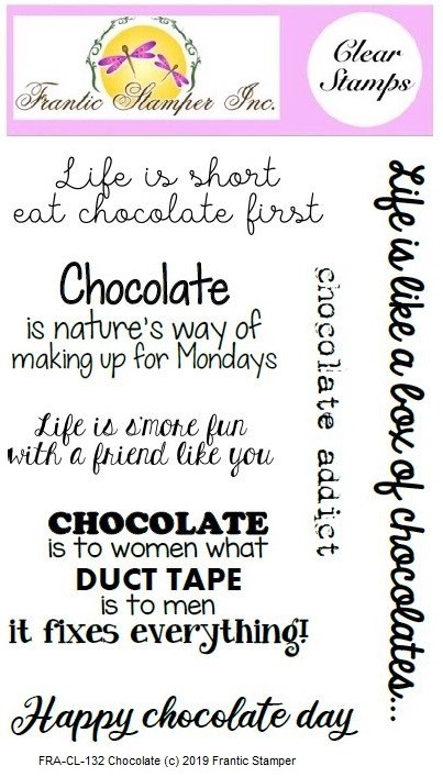 Frantic Stamper Clear Stamp Set - Chocolate