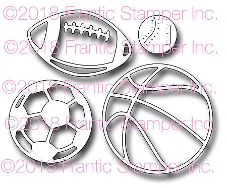Frantic Stamper Precision Die - Sports Ball Icons