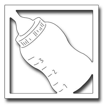 Frantic Stamper Precision Die - Baby Bottle Square