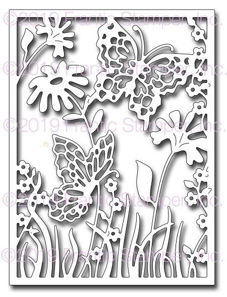 Frantic Stamper Precision Die - Spring Butterfly Card Panel